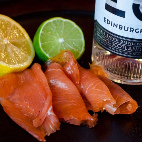 Gin cured Smoked Salmon